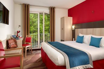 Hotel Roissy Lourdes chambre double deluxe proche de la Grotte