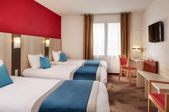 Hotel Lourdes 4 sterren ligt naast de grot heiligdom 3 peersonskamer
