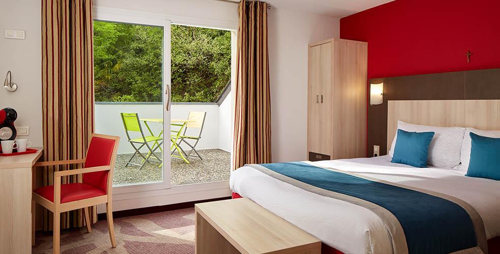 Camera doppia hotel Roissy Lourdes vicino al Santuario